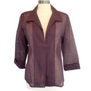 Chico's Women's Open Front Sheer Jacket 2 (12)